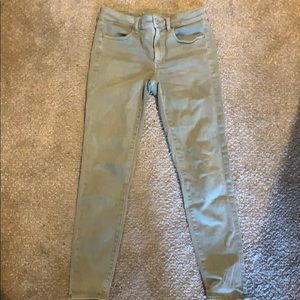American eagle next level stretch green jeggings